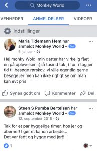 Anmeldelser Monkey World