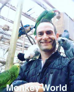 Dennis med papegøjer