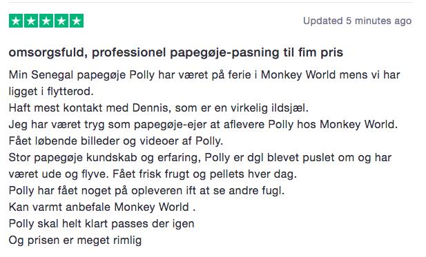Nordsjællands papegøje pasning