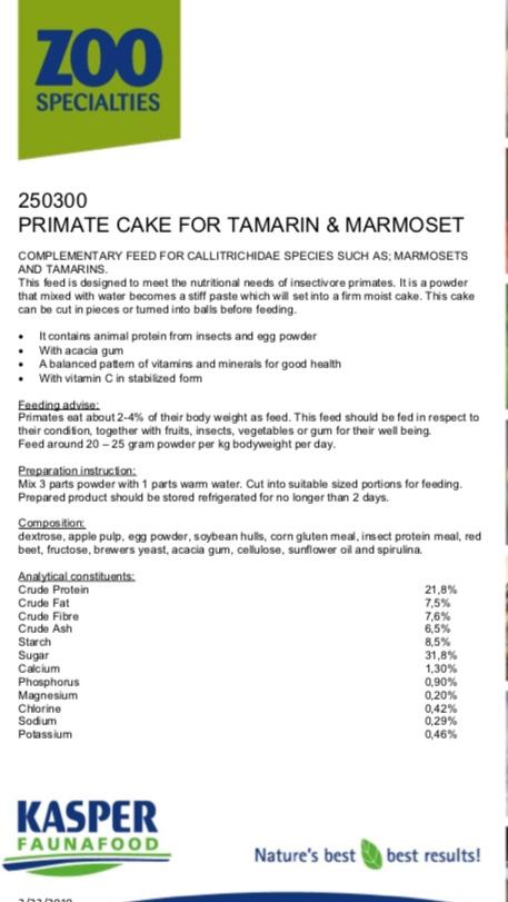 Primate cake, Tamarin & Marmoset