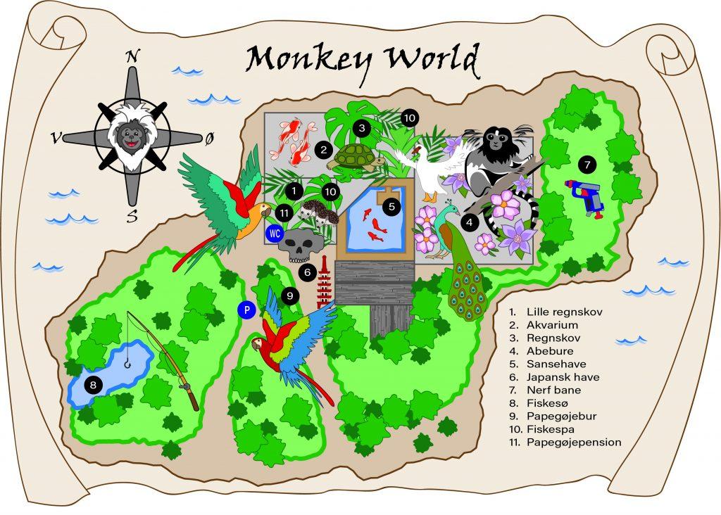 Institutioner, børnehaver, Monkey World