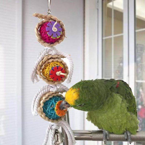 Hængende bide legetøj med klokke