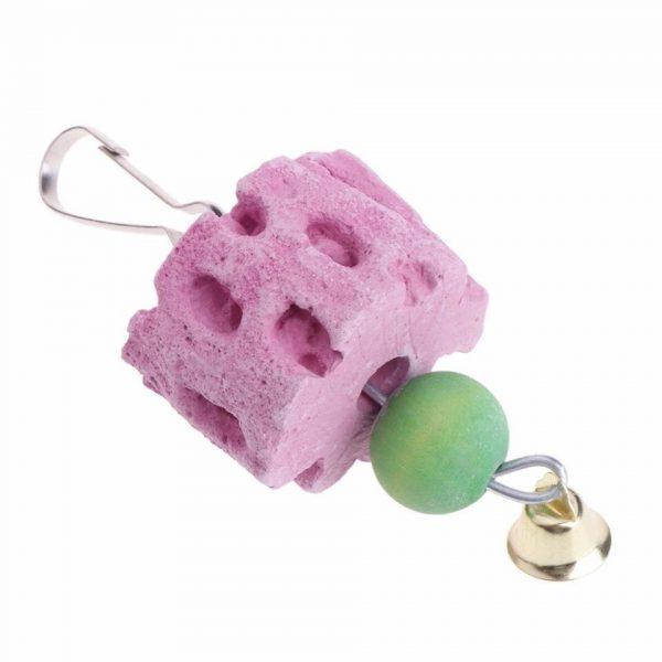 Hænge legetøj med mineral sten til fugle