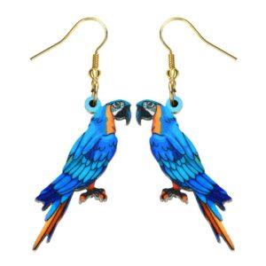 Blå ara Øreringe