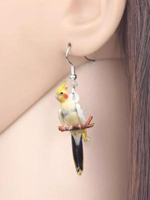 Nymfeparakit øreringe
