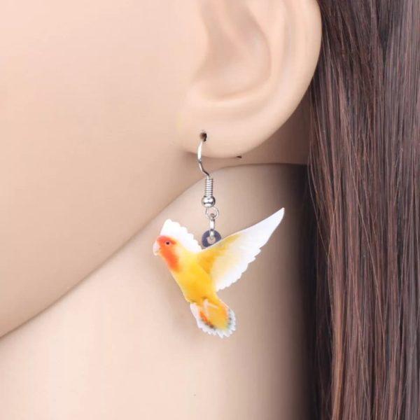 Dværgpapegøje øreringe