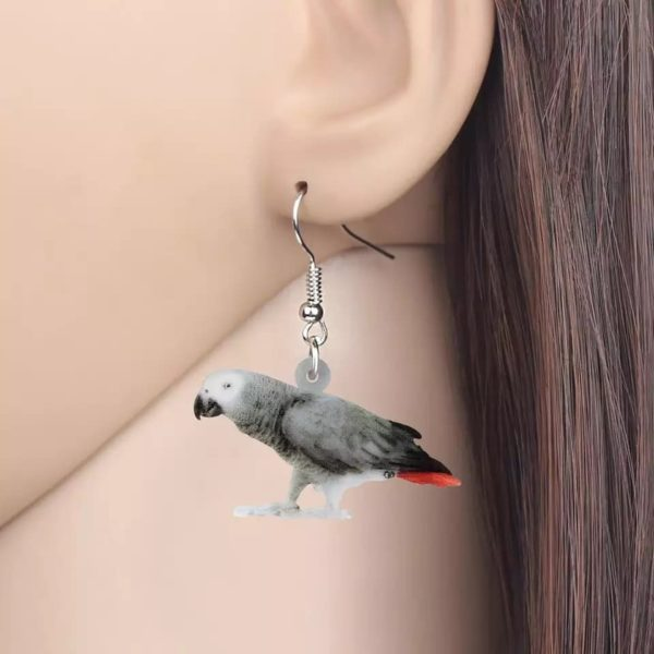 Ørering med grå jaco