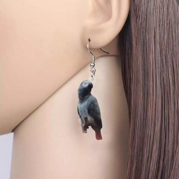 Ørering med gråpapegøje