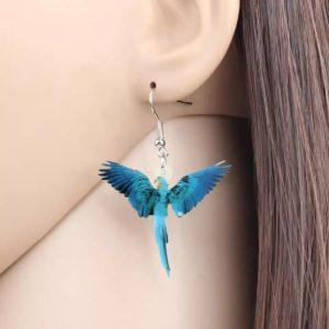 Øreringe med blå ara