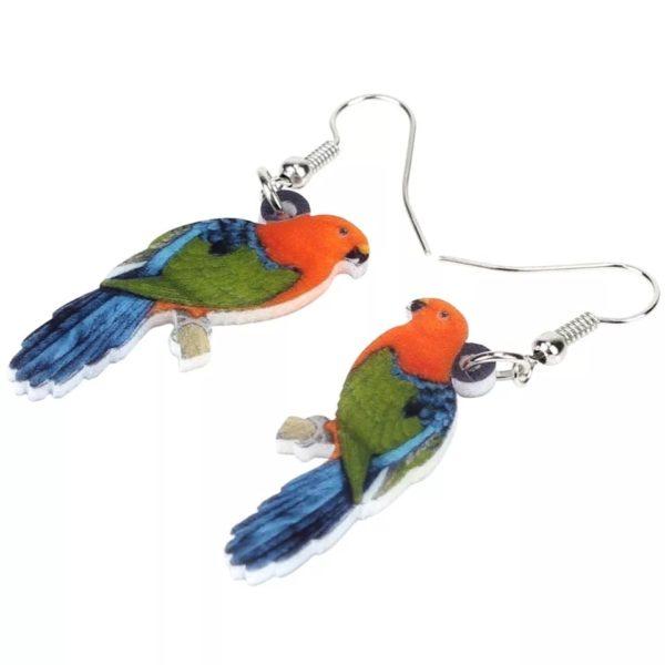 Øreringe med papegøje