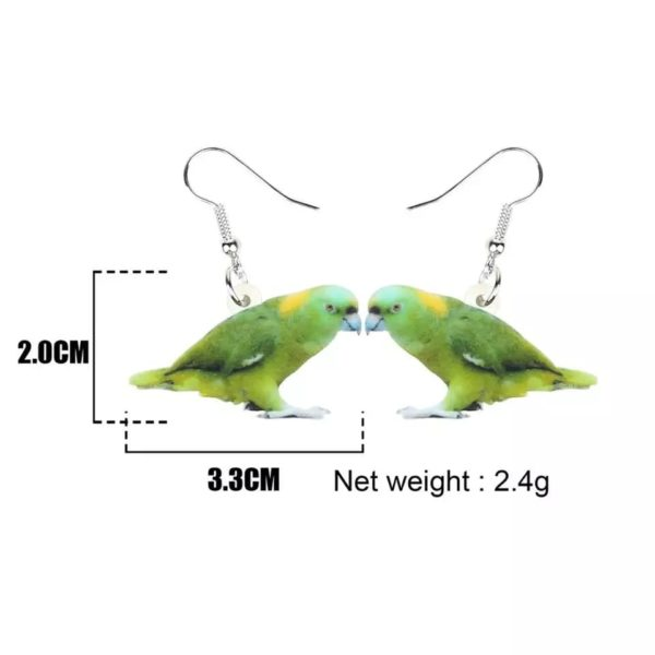 Øreringe med amazone papegøje