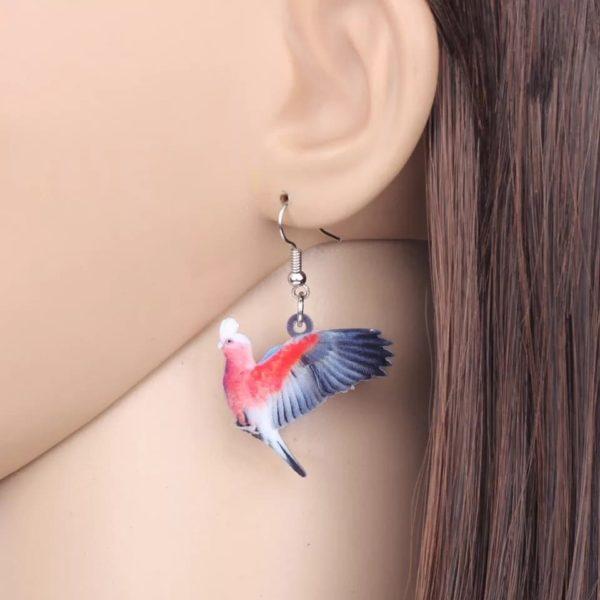 Rosa kakadue ørering