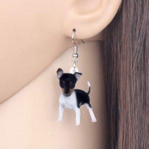 Toy fox terrier øreringe