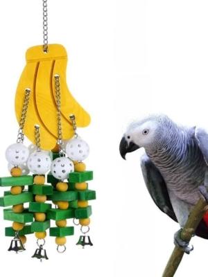 Trælegetøj til papegøjer