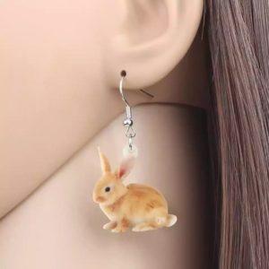 Brun kanin ørering