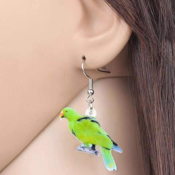 Ædelpapegøje øreringe