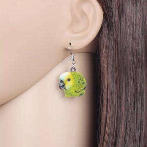 Blåpandet amazone ørering