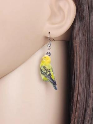 Grøn Undulat øreringe