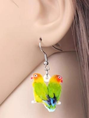 Dværgpapegøje ørering