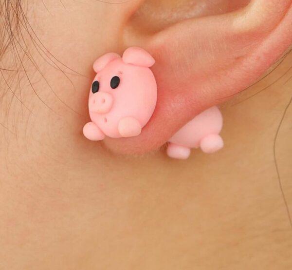 Gris øreringe