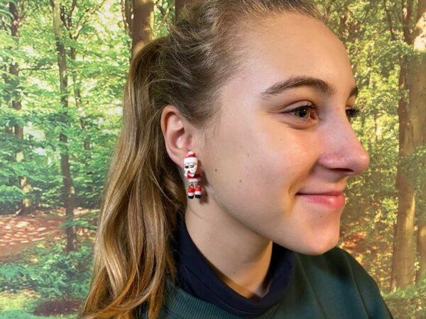 Julemand øreringe