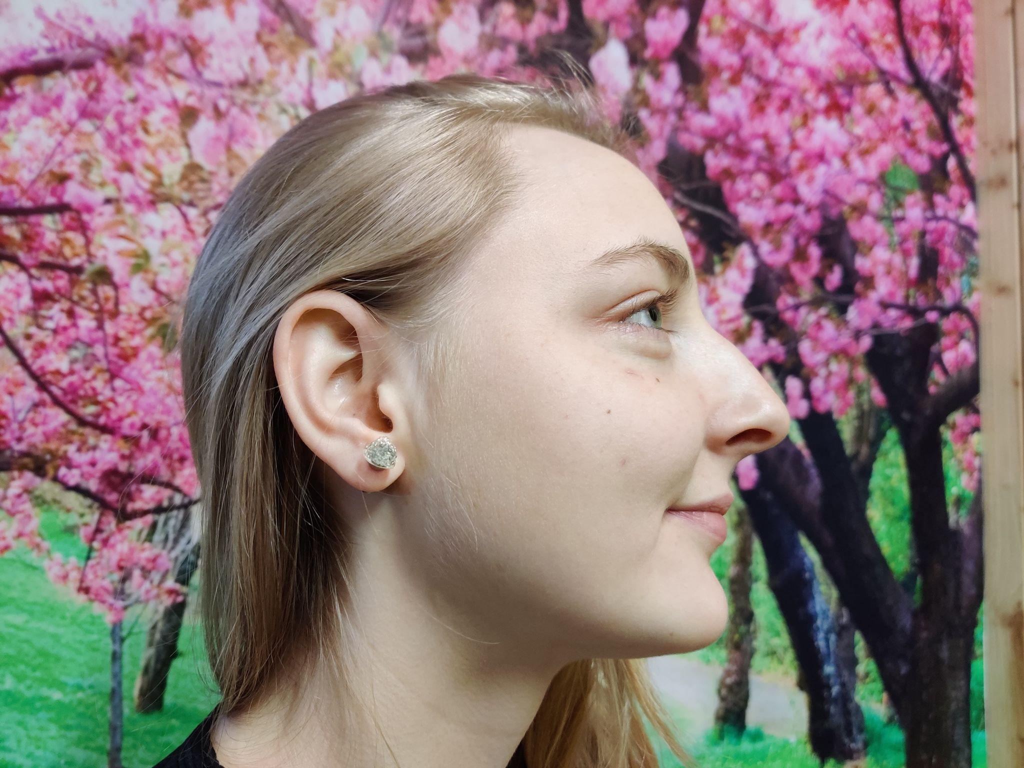 Hjerte øreringe med lys